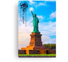 Lady Liberty Lifts Her Light - Statue of LIberty Canvas Print