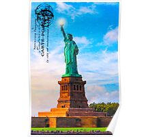 Lady Liberty Lifts Her Light - Statue of LIberty Poster