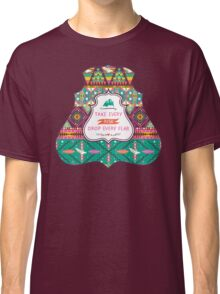 Aztec geometric seamless  colorful pattern Classic T-Shirt