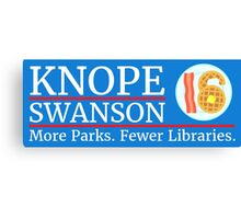 Vote Knope Swanson for Breakfast 2016 Canvas Print