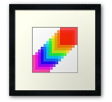 Pixel colors Framed Print