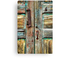 Double Door Hardware Canvas Print