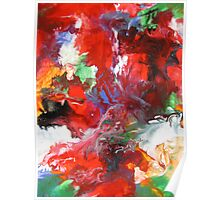 Colorful Abstract Modern Contemporary Fine Art Poster
