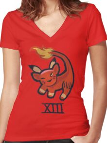 Red Xiii Women's Fitted V-Neck T-Shirt