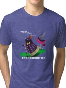 Dalek and the chocolate factory Tri-blend T-Shirt
