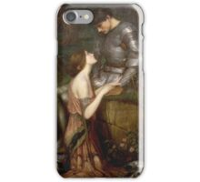 John William Waterhouse - Lamia. Lovers portrait: sensual woman, woman and man, kiss, kissing lovers, love relations, lovely couple, family, valentine's day, sexy, romance, female and male iPhone Case/Skin