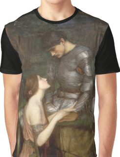 John William Waterhouse - Lamia. Lovers portrait: sensual woman, woman and man, kiss, kissing lovers, love relations, lovely couple, family, valentine's day, sexy, romance, female and male Graphic T-Shirt