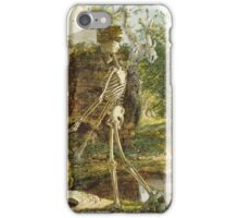 Joseph Wright Of Derby - The Old Man And Death . Man portrait: strong man,  death, destiny, finality, inevitability, masculine, end, finish, manly, destiny, mortality iPhone Case/Skin