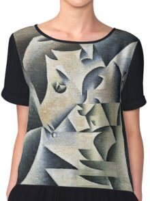 Juan Gris - Portrait Of Josette. Abstract painting: abstract art, geometric, expressionism, composition, lines, forms, creative fusion, spot, shape, illusion, fantasy future Chiffon Top