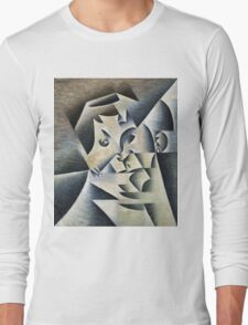 Juan Gris - Portrait Of Josette. Abstract painting: abstract art, geometric, expressionism, composition, lines, forms, creative fusion, spot, shape, illusion, fantasy future Long Sleeve T-Shirt