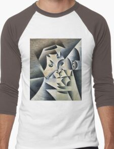 Juan Gris - Portrait Of Josette. Abstract painting: abstract art, geometric, expressionism, composition, lines, forms, creative fusion, spot, shape, illusion, fantasy future Men's Baseball ¾ T-Shirt