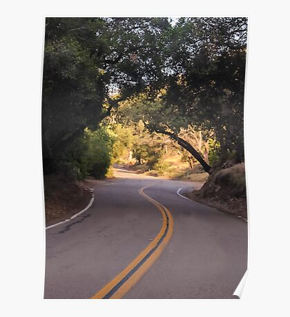 The Road To El Capitan Reservoir, San Diego , California, 11 Poster