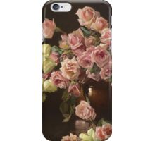 Joseph Rodefer Decamp - Still Life, Roses. Still life with flowers: still life with flowers, blossom, Rose, Roses, floral flora, wonderful flower, plants, cute plant for kitchen interior, garden, vase iPhone Case/Skin