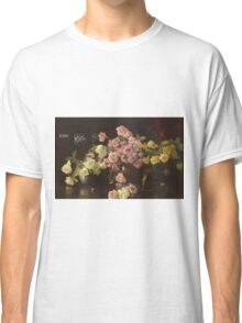 Joseph Rodefer Decamp - Still Life, Roses. Still life with flowers: still life with flowers, blossom, Rose, Roses, floral flora, wonderful flower, plants, cute plant for kitchen interior, garden, vase Classic T-Shirt