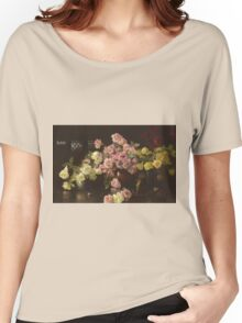 Joseph Rodefer Decamp - Still Life, Roses. Still life with flowers: still life with flowers, blossom, Rose, Roses, floral flora, wonderful flower, plants, cute plant for kitchen interior, garden, vase Women's Relaxed Fit T-Shirt