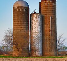 Retired Silos Trio by Kenneth Keifer
