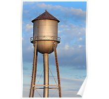 Metal Water Tower and Morning Sky Poster