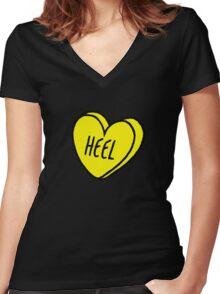 Heel 2 Women's Fitted V-Neck T-Shirt