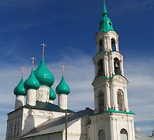 church with green domes by mrivserg