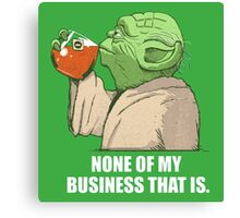 Not my business Canvas Print