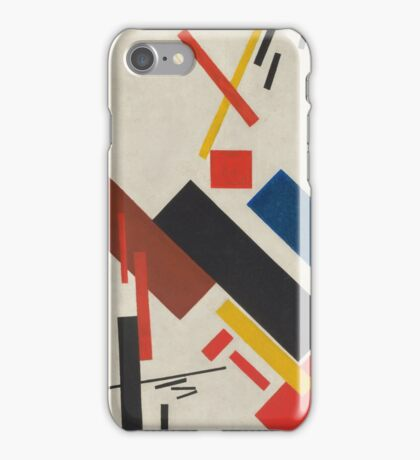 Kazimir Malevich - Stroyuschiysya Dom. Abstract painting: abstract art, geometric, expressionism, composition, lines, forms, creative fusion, spot, shape, illusion, fantasy future iPhone Case/Skin