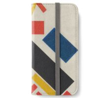 Kazimir Malevich - Stroyuschiysya Dom. Abstract painting: abstract art, geometric, expressionism, composition, lines, forms, creative fusion, spot, shape, illusion, fantasy future iPhone Wallet/Case/Skin