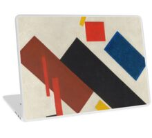 Kazimir Malevich - Stroyuschiysya Dom. Abstract painting: abstract art, geometric, expressionism, composition, lines, forms, creative fusion, spot, shape, illusion, fantasy future Laptop Skin
