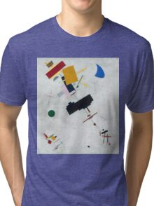 Kazimir Malevich - Suprematism. Abstract painting: abstract art, geometric, expressionism, composition, lines, forms, creative fusion, spot, shape, illusion, fantasy future Tri-blend T-Shirt