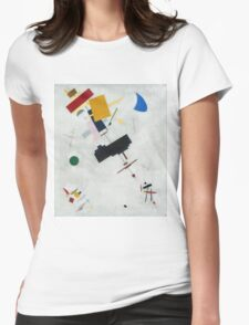 Kazimir Malevich - Suprematism. Abstract painting: abstract art, geometric, expressionism, composition, lines, forms, creative fusion, spot, shape, illusion, fantasy future Womens Fitted T-Shirt