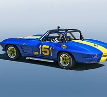 1964 Corvette Vintage Racecar by DaveKoontz