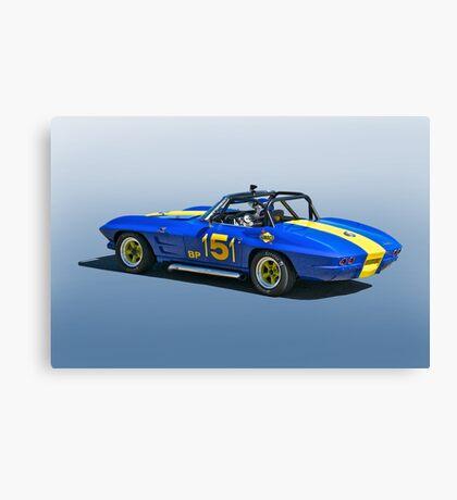 1964 Corvette Vintage Racecar Canvas Print