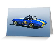 1964 Corvette Vintage Racecar Greeting Card