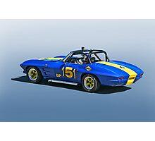 1964 Corvette Vintage Racecar Photographic Print
