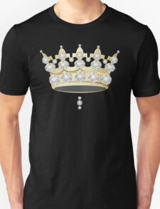 Crown in Gold and Diamonds Royal with Gold Effect Honeycomb Unisex T-Shirt