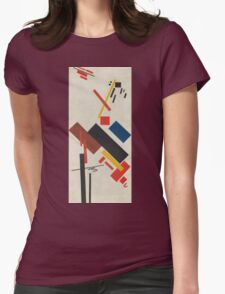 Kazimir Malevich - Stroyuschiysya Dom. Abstract painting: abstract art, geometric, expressionism, composition, lines, forms, creative fusion, spot, shape, illusion, fantasy future Womens Fitted T-Shirt