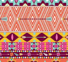 Aztec geometric seamless  colorful pattern by tomuato