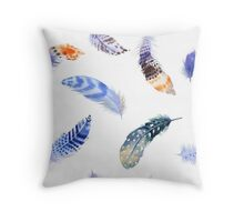 Feathers pattern 1 Throw Pillow