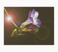 Purple freesia composition with lens flare Kids Clothes