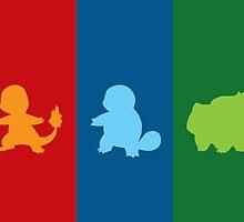Pokemon - First Gen. Starters by radicalpanda