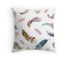 Feathers pattern 2 Throw Pillow