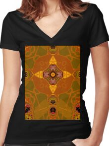 amber structure layer 332 Women's Fitted V-Neck T-Shirt