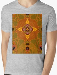 amber structure layer 332 Mens V-Neck T-Shirt