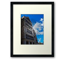 The building Framed Print