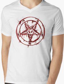 Satanic Pentagram Mens V-Neck T-Shirt