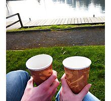 Mr and Mrs Tea by the Lough Photographic Print