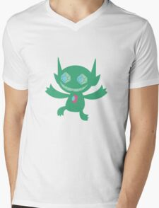 Sableye Green Mens V-Neck T-Shirt