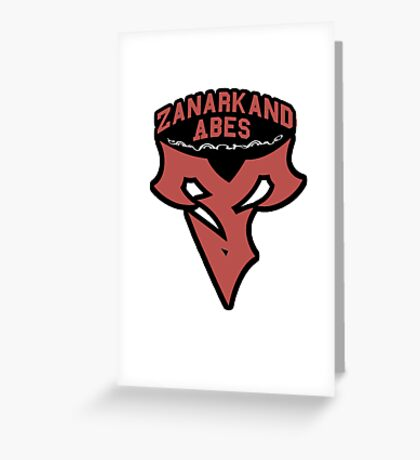 Zanarkand Abes Greeting Card