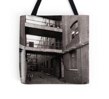 Black and White Alley Tote Bag
