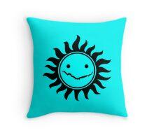 Superwholock - Sky Blue Throw Pillow