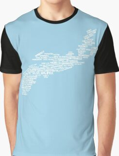 Nova Scotia Word Art Graphic T-Shirt